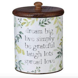 Metal Canister Dream Big Live Simply Spread Love